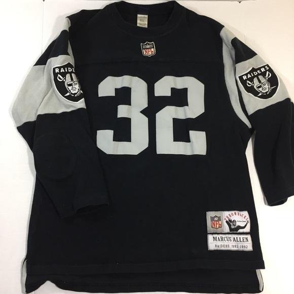 Vtg NFL Raiders Marcus Allen Jersey Sweater XL
